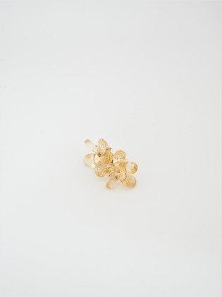プレシャスシトリンのフラワースタッドピアス / Precious citrin flower pierce