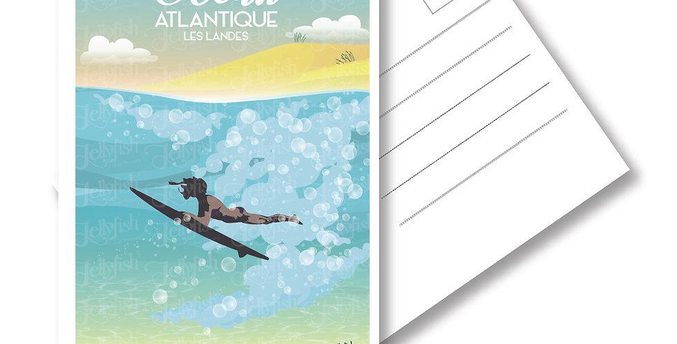 """CARTE POSTALE OCEAN ATLANTIQUE """"Les Landes"""""""