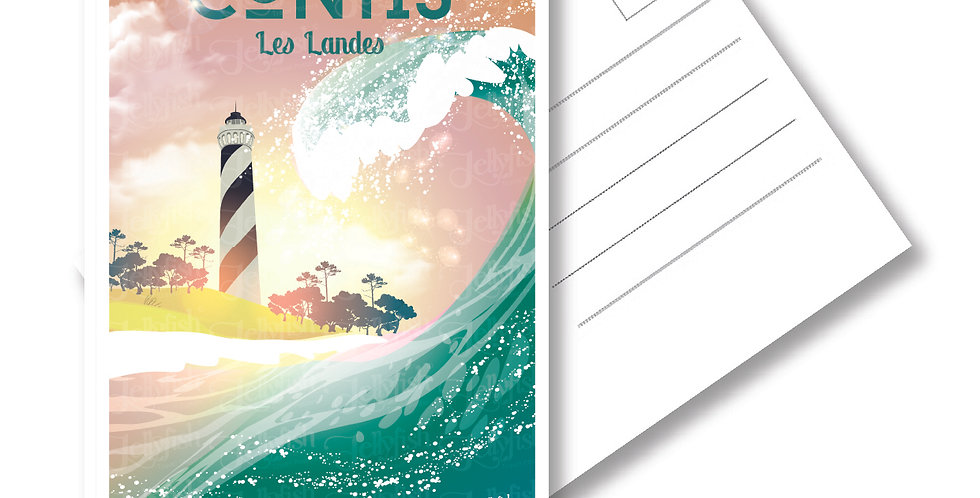 """CARTE POSTALE  CONTIS """"Les Landes"""""""