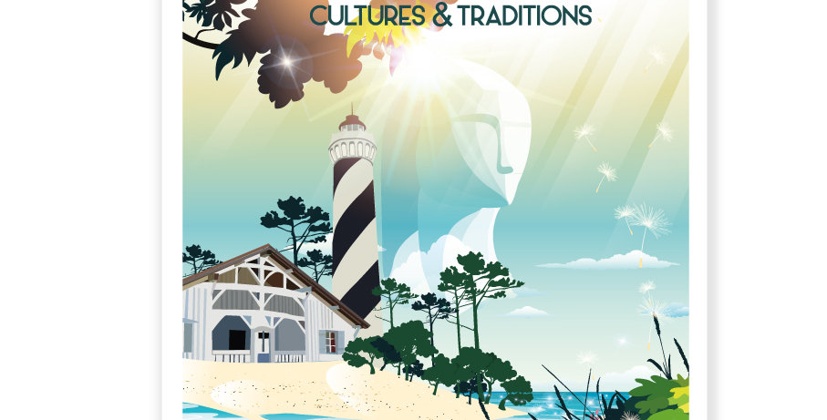 "AFFICHE LES LANDES ""Cultures et Traditions"""