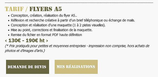 Tarif / Flyers A5