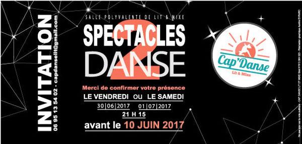 Carton d'invitation Cap'Danse-2017