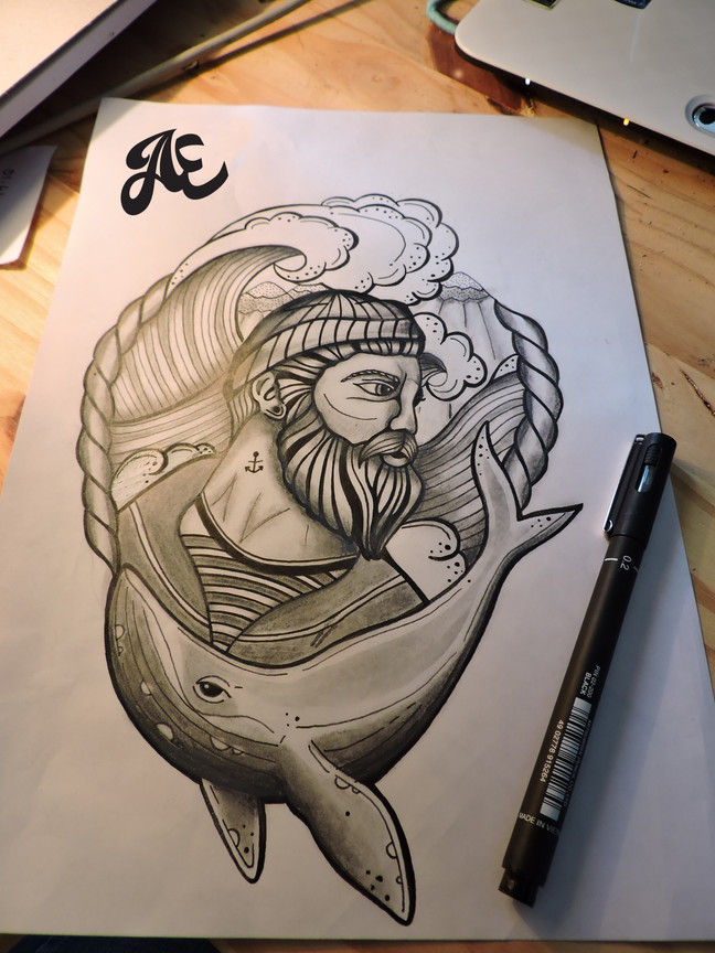 Tattoo old school marin