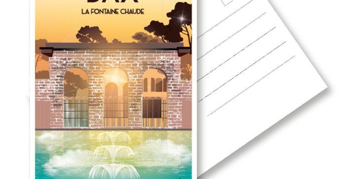 CARTE POSTALE DAX - FONTAINE CHAUDE