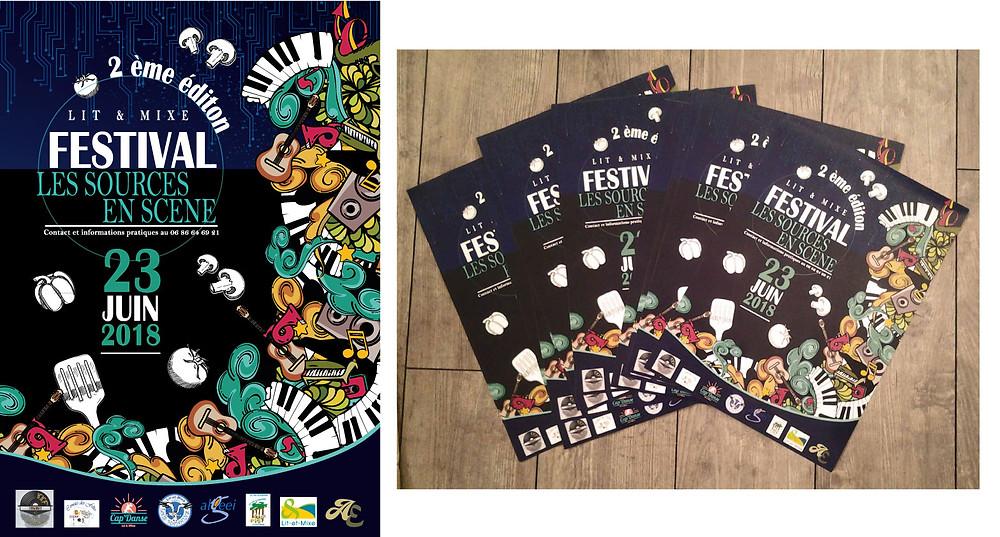 Affiche, création,A3,festival,musique,original