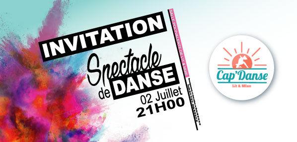 Carton d'invitation Cap'danse-2016