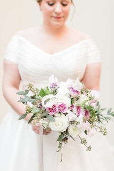 Beautiful bride with her spring bouquet  Photo by Amy Hutchinson Photography
