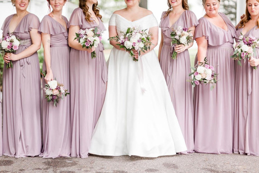 Bridal party in lavender  Photo by Amy Hutchinson Photography