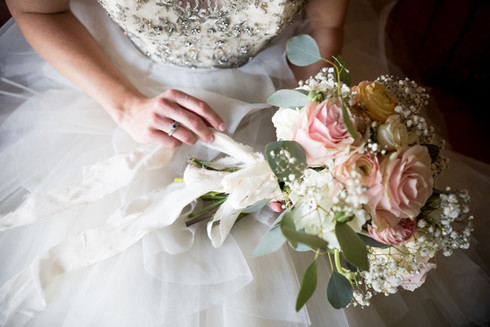 Nothing more beautiful than a bride with her bouquet  Photo by Morgan Newsom Photography