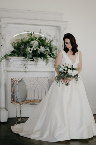 Classic beauty with vintage mantle   Photo by Photography Anthology