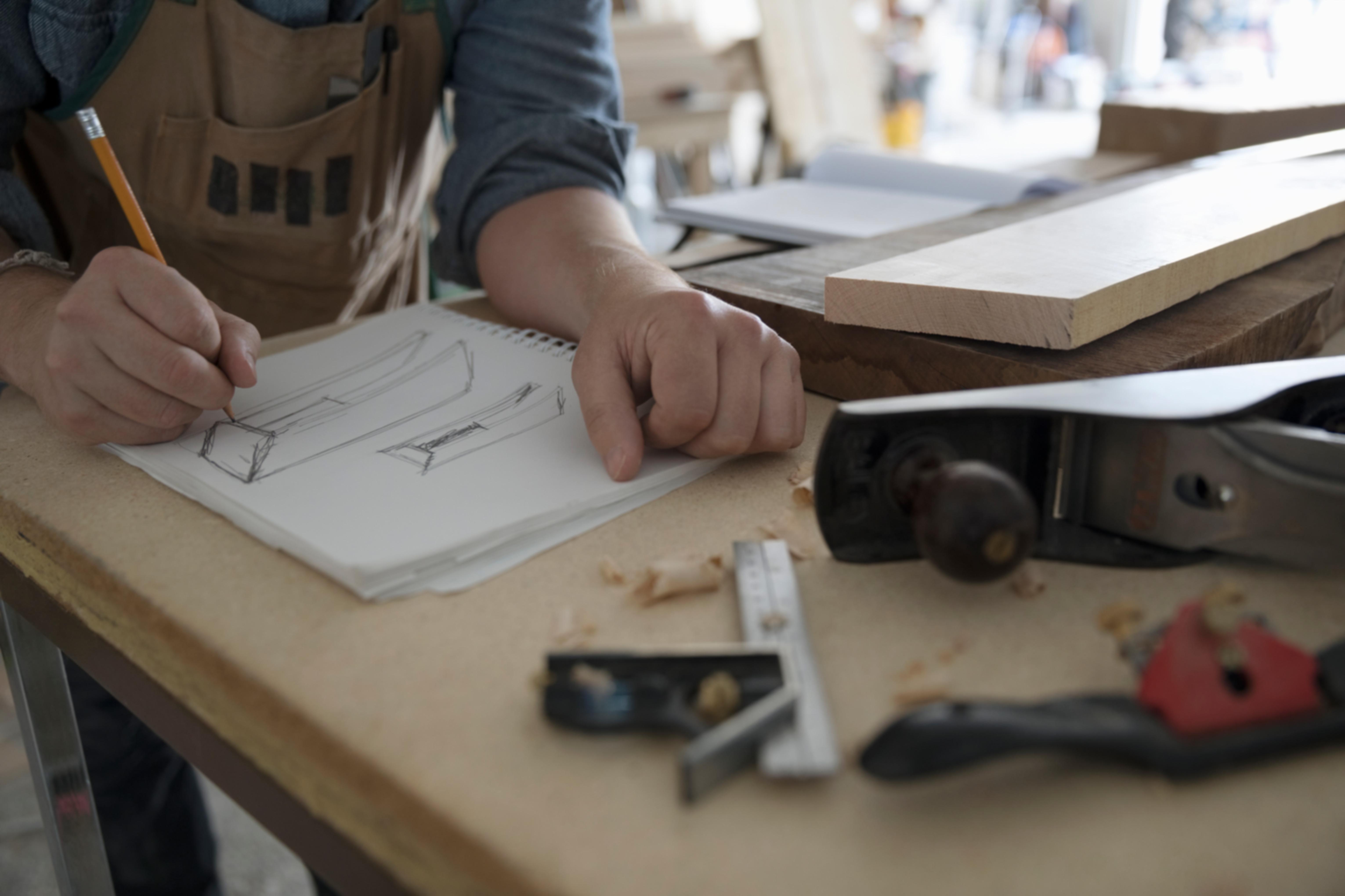 Möbel Planung Änderung Zeichnung