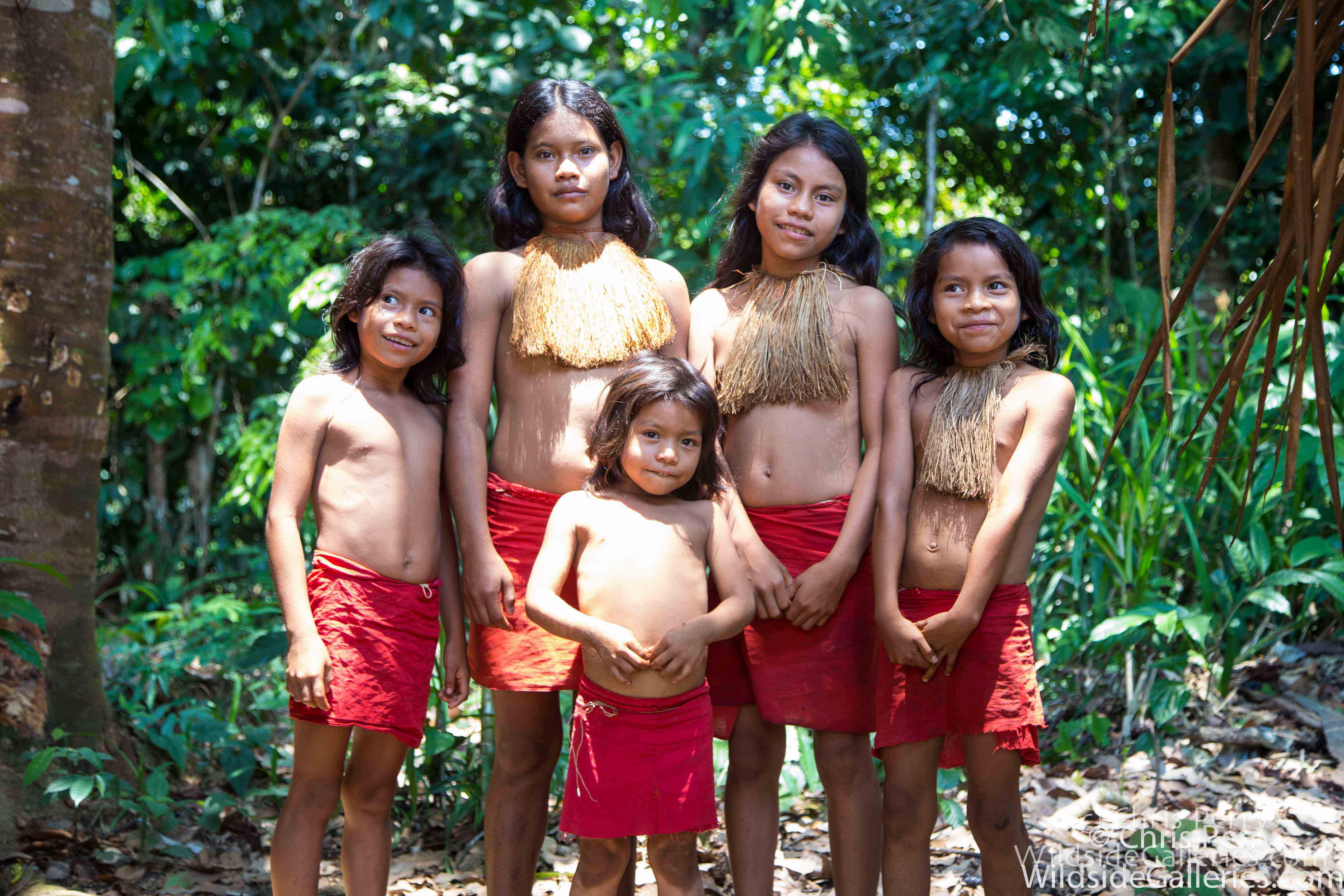 Yagua Tribe Family