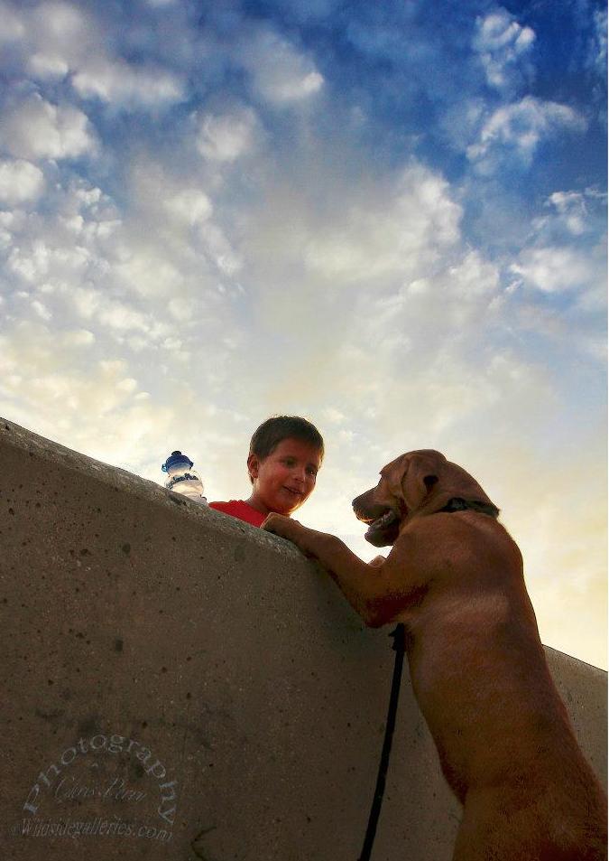 Kid and his pal