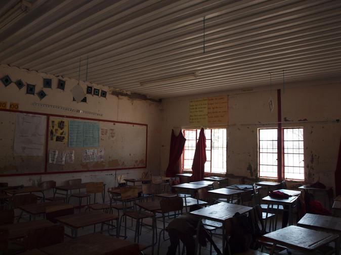 A classroom at Malangu school