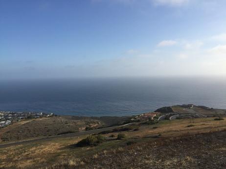 Rancho Palos Verdesの丘からの眺め・正面