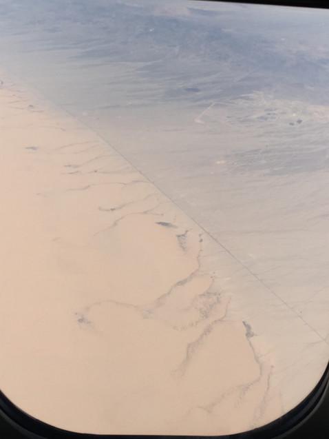 セドナまでの砂エリアだー♪ 上から見れた感動!