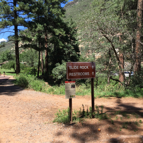 Slide Rock State Parkに来ました