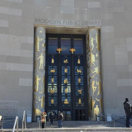 Brooklyn Public Library入り口