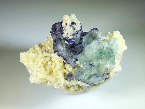 Fluorite / Schorl / Zinnwaldite