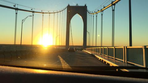 帰りに通ったRhode Islandの橋。この道でギルガメッシュさん登場しました。
