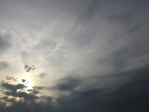 この日の空は不思議だったな