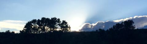 夕日が沈んだ