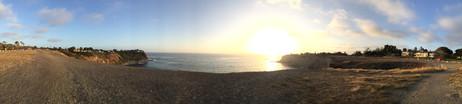 しばらくここで夕陽を堪能