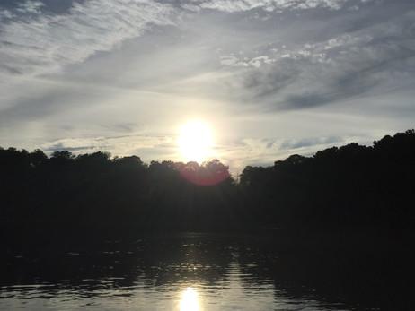 だんだん夕焼け。きれい。