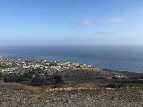 Rancho Palos Verdesの丘からの眺め・左