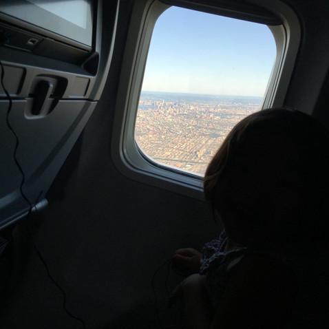 飛んだ~!いざサンディエゴへしゅっぱーつ!