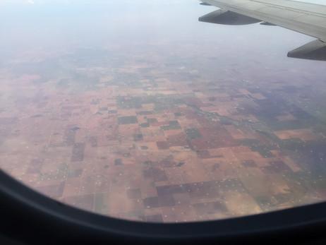 テキサスのオイルフィールド上空