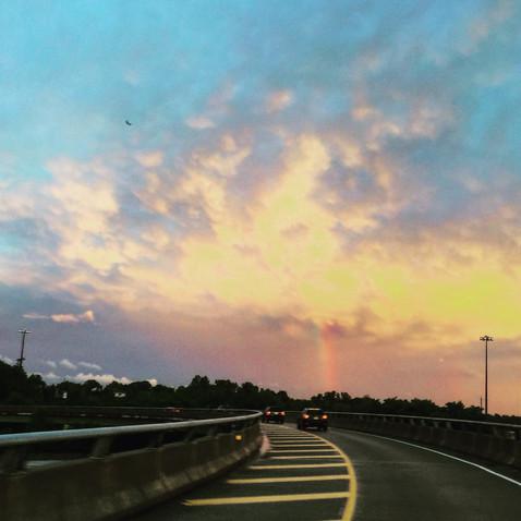 ギャー――!虹はしご!🌈
