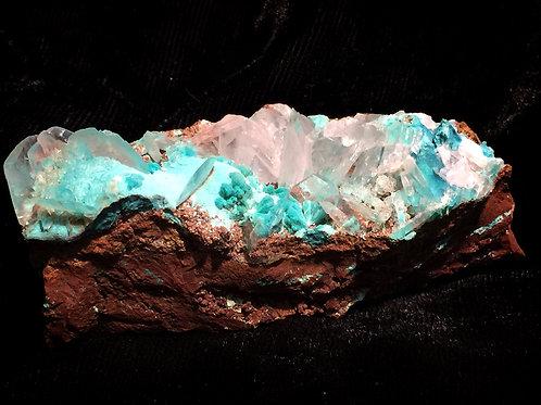 Rosasite / Calcite ローザ石 / カルサイト