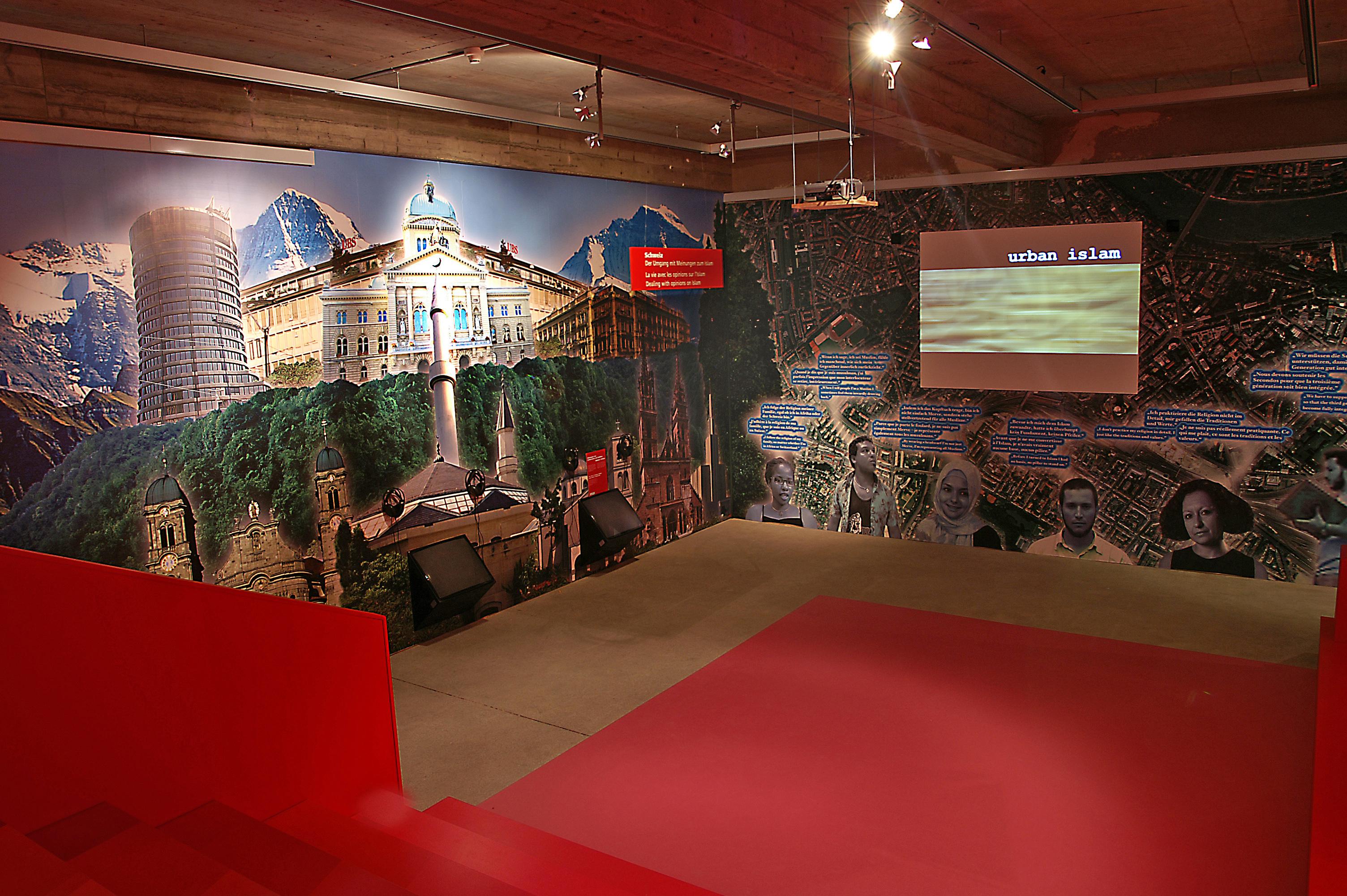 Urban Islam Blick in die Ausstellung