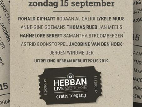Zondag 15 sept Broese / HEBBAN LIVE