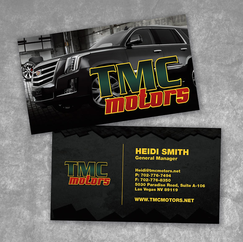 Print fast vegas sign experts work tmc motor business card reheart