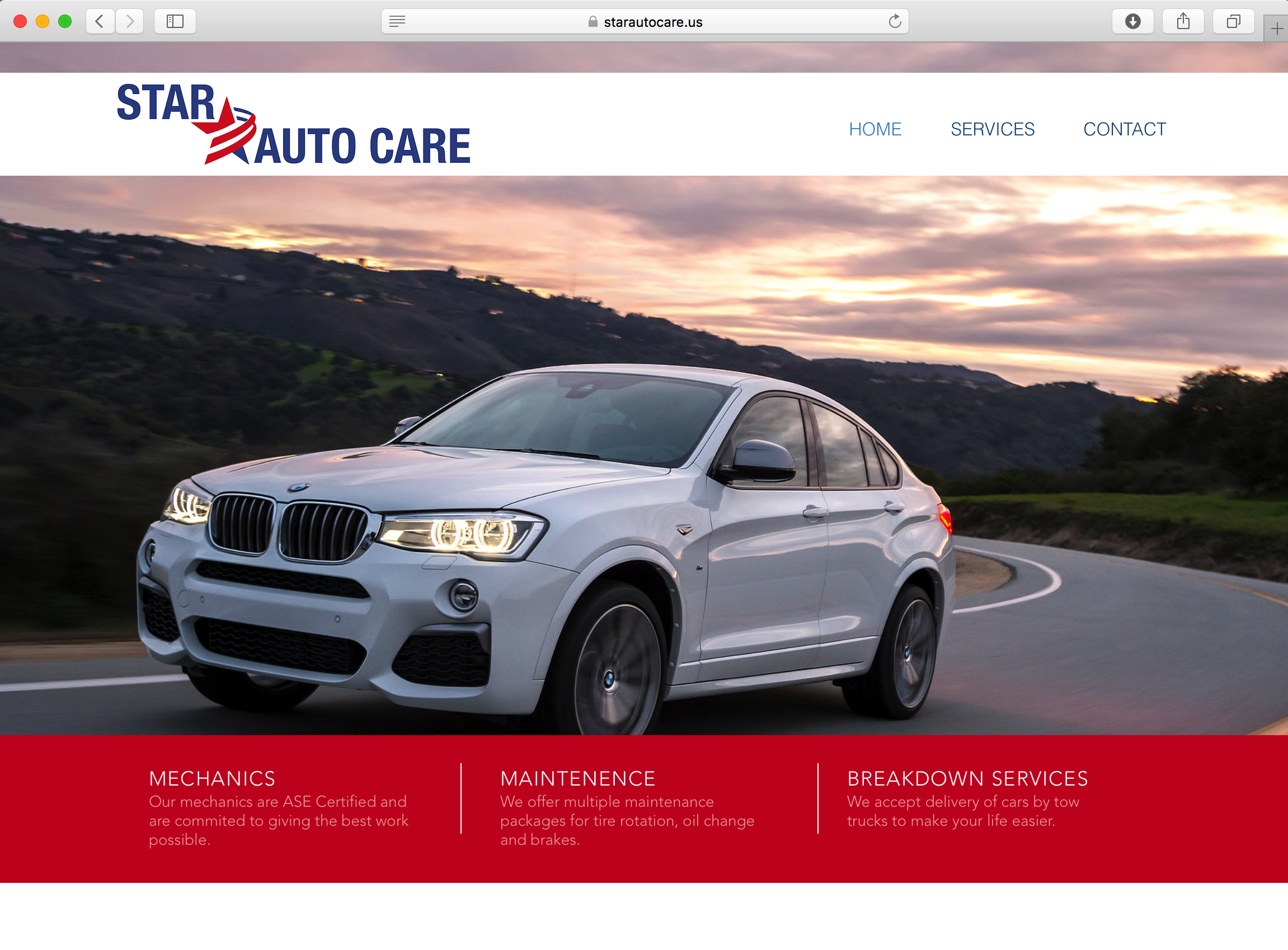 Star Auto Website Design