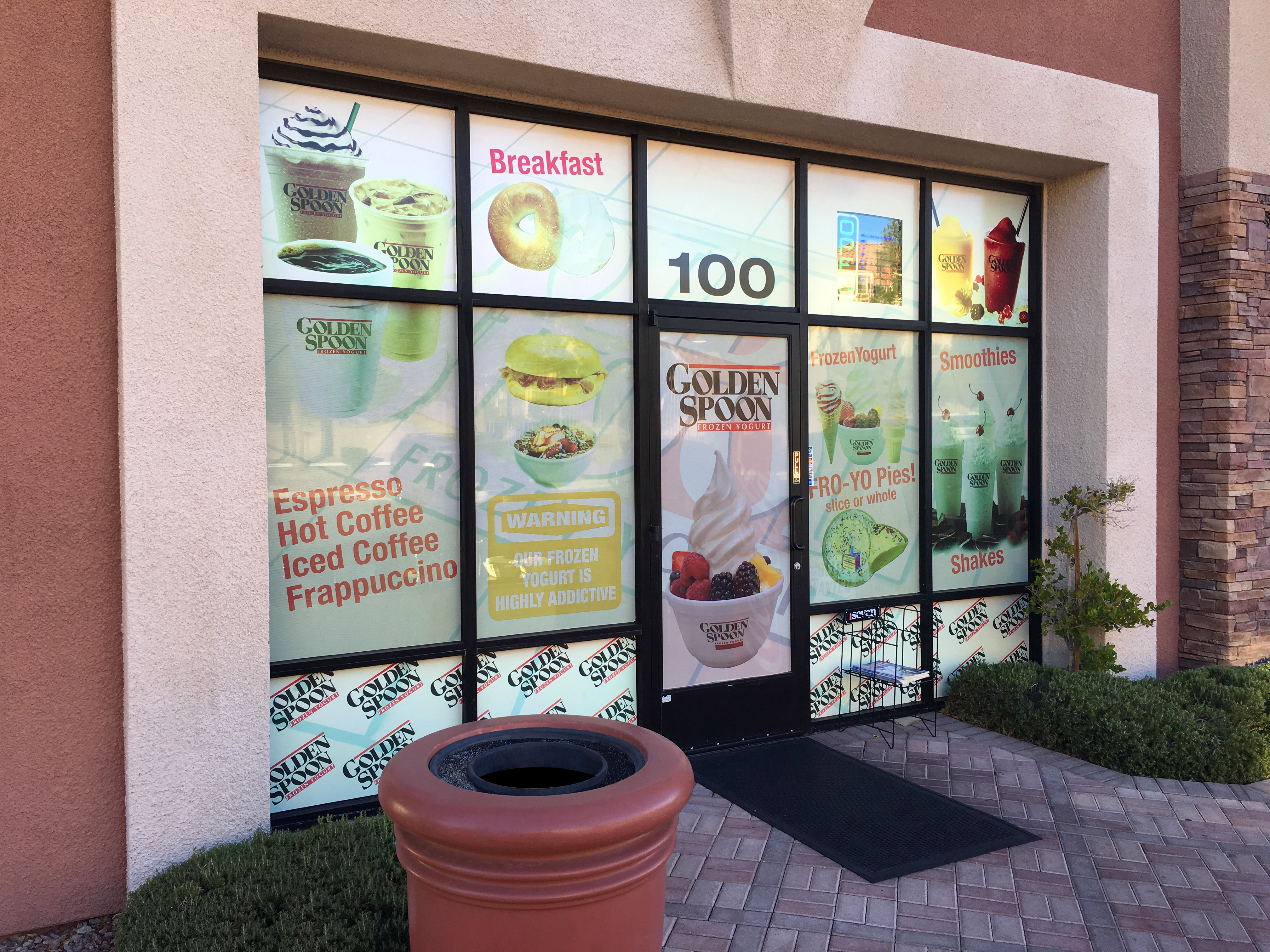 Golden Spoon Window Vinyl