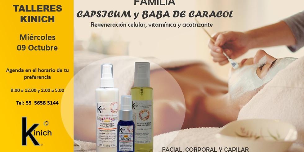 TALLER CAPSICUM Y BABA DE CARACOL