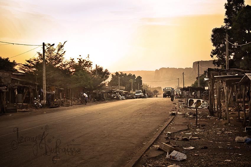 Fin de marché à Siby, Mali