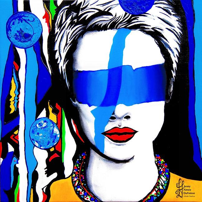 Artiste Peintre Toulouse. Blue vibes