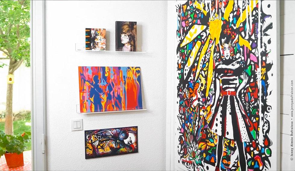 Créations, peintures - Jenny Aimée Dufraisse
