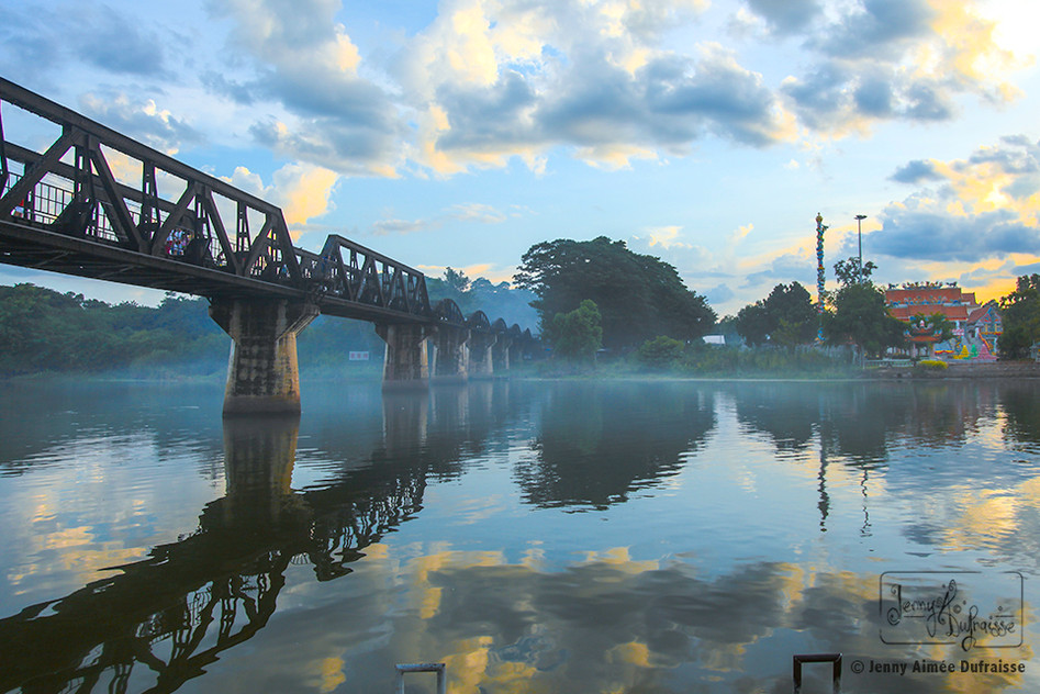 Pont de la rivière Kwaï, Kanshanaburi. Thaïlande