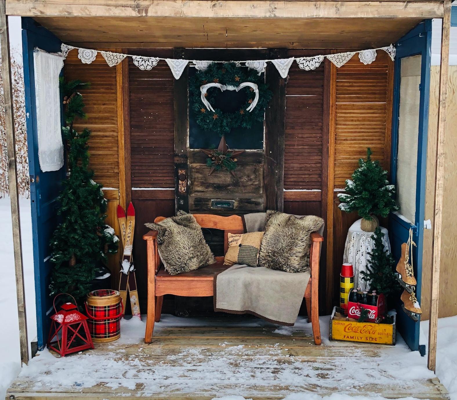 Shutter Door Deck Winter