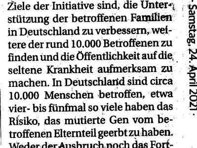 Presse: Beleuchtung für Huntington 2021 in Aachen