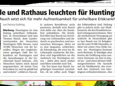 Presse: Die Beleuchtung des Marburger Rathaus 2017