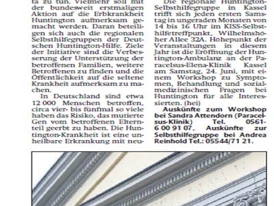 Presse: Friedericianum in Kassel leuchtete 2017 für die Huntington-Krankheit