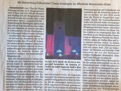 Presse: Beleuchtung für Huntington 2021 in Schwalmtal