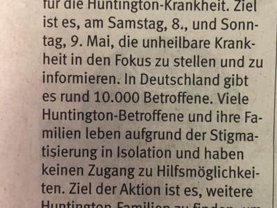 Presse: Beleuchtung für Huntington 2021 in Bochum
