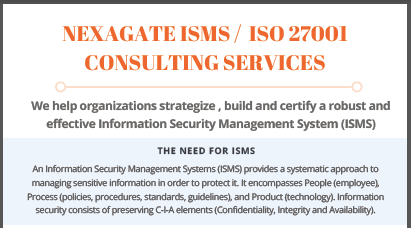 ISMS ISO27001 Consulting Datasheet